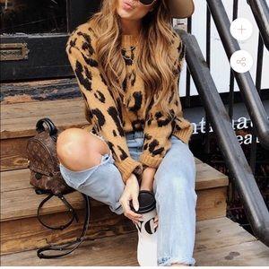 Plush Cheetah Print Sweater